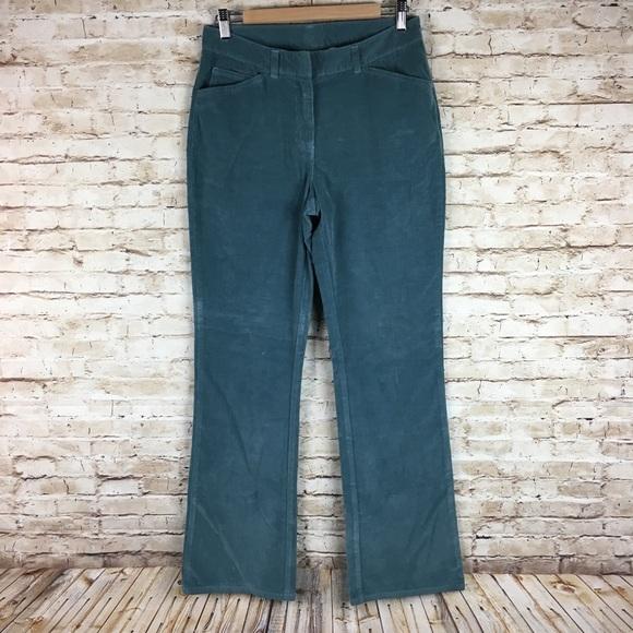 a4bf2a11237 L. L. Bean blue corduroy bootcut pants sz 8 tall